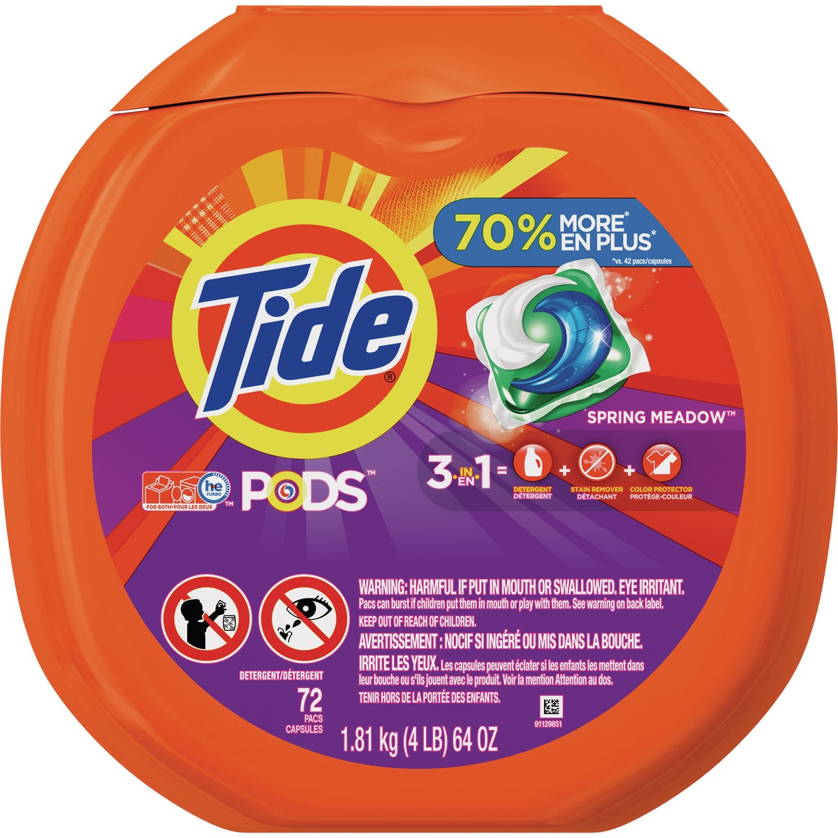 66CT TIDE PODS DETERGENT