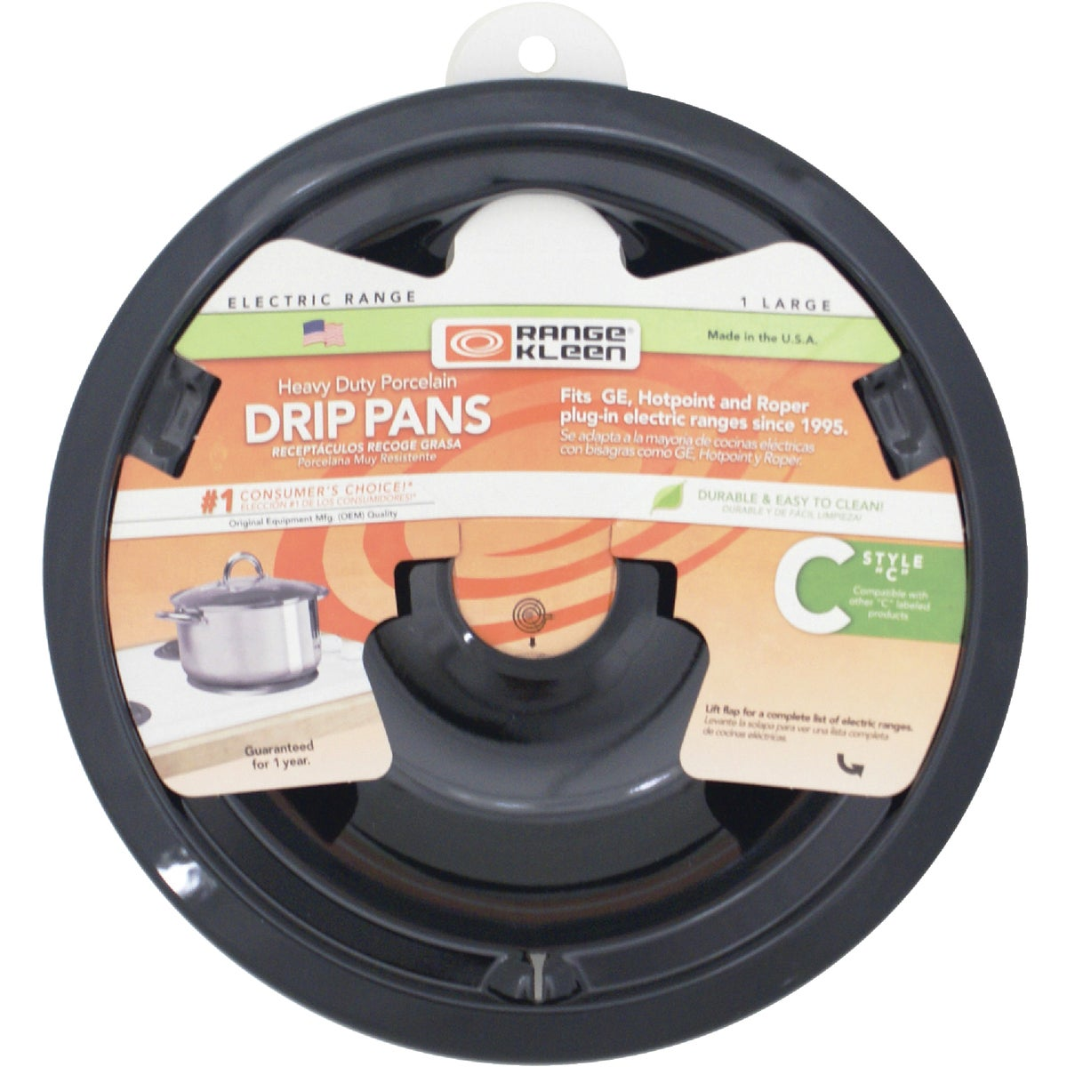 "8"" PORC C STYLE DRIP PAN - P180 by Range Kleen Mfg Inc"