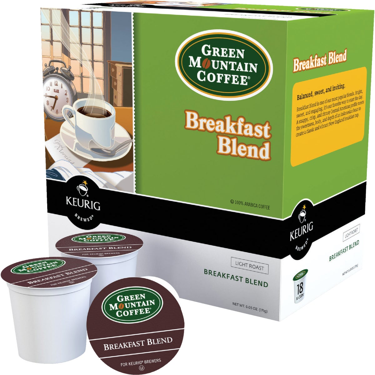 18CT BRKFST COFFEE K-CUP