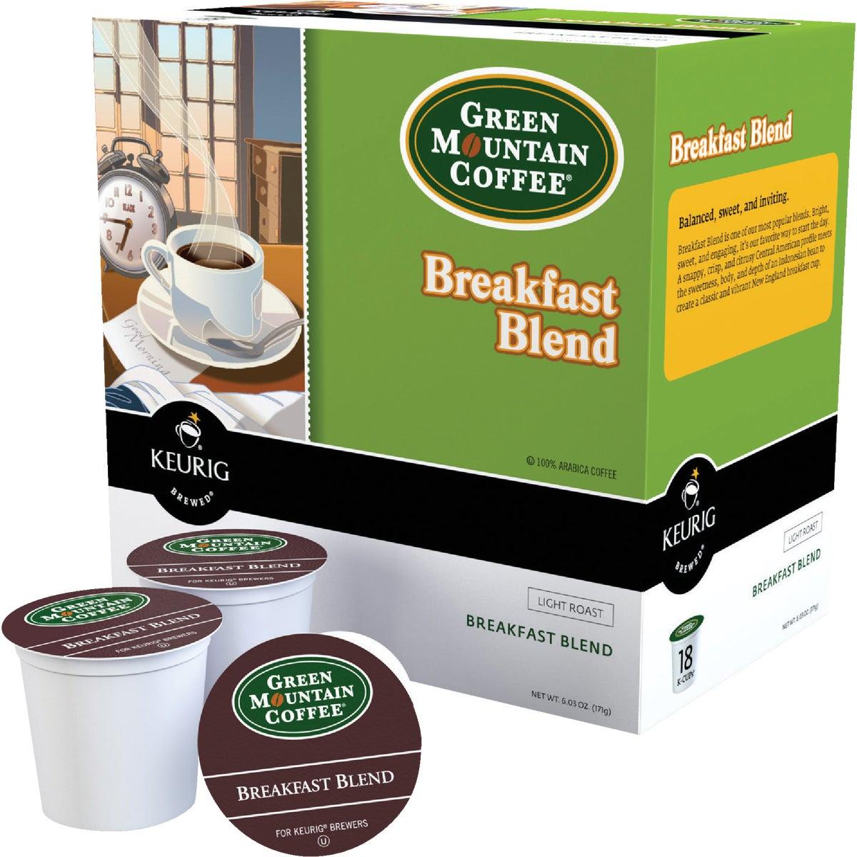 18CT BRKFST COFFEE K-CUP - 00520 by Keurig     M Block