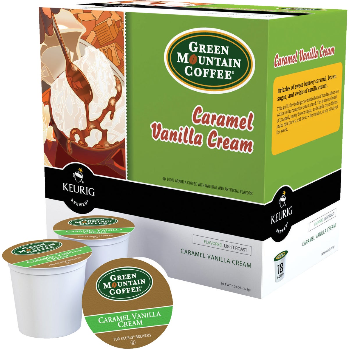 18CT K-CUP C VNLL COFFEE - 00750 by Keurig     M Block