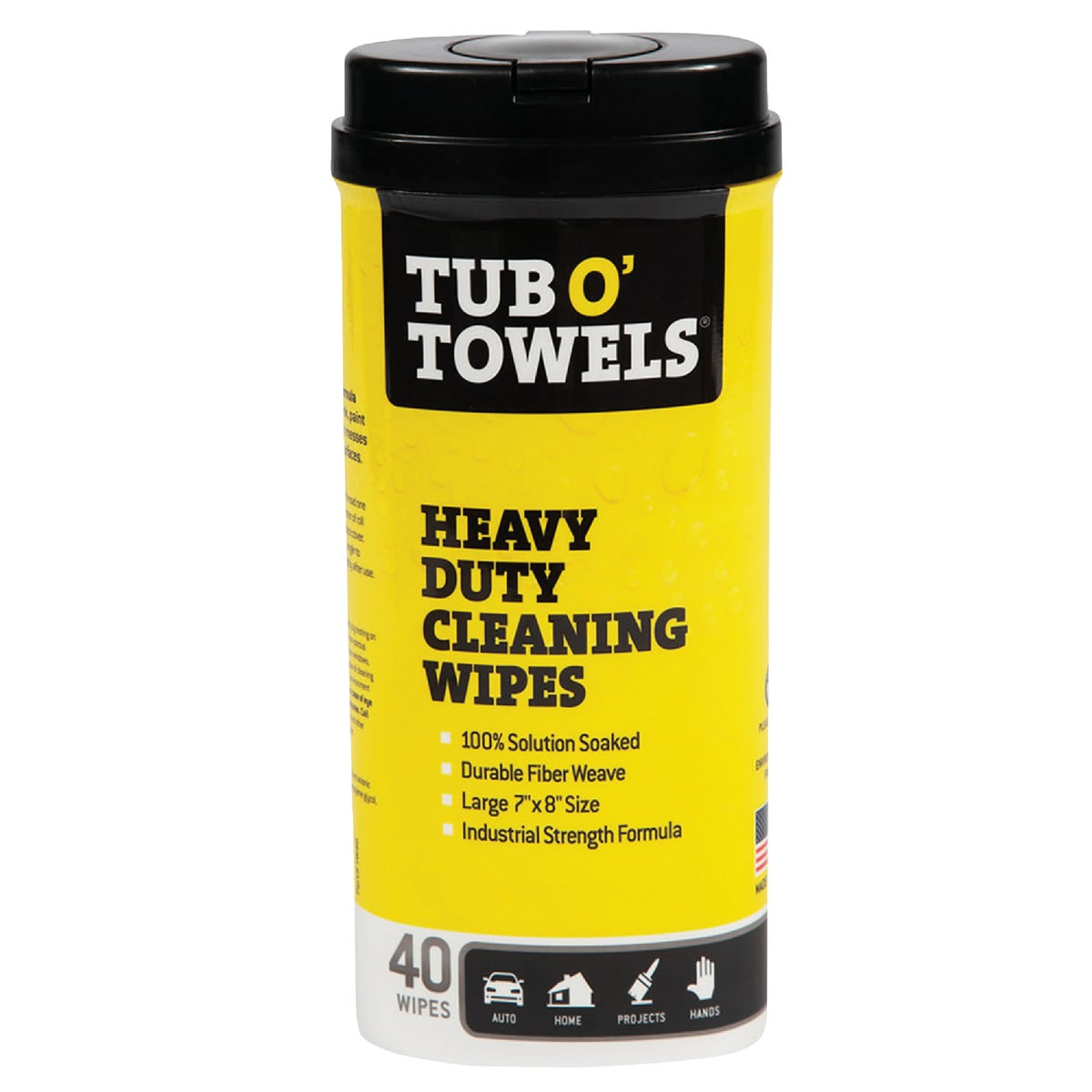 40CT TUB O TOWELS - TW40 by Federal Proces Incom