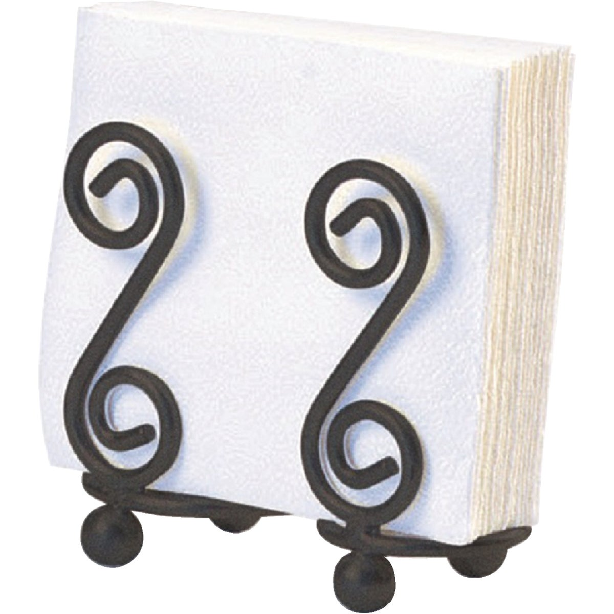 BLACK NAPKIN HOLDER