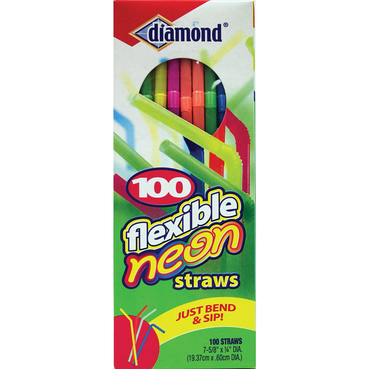 FLEXIBLE NEON STRAW - 41426-34158 by Jarden Home Brands