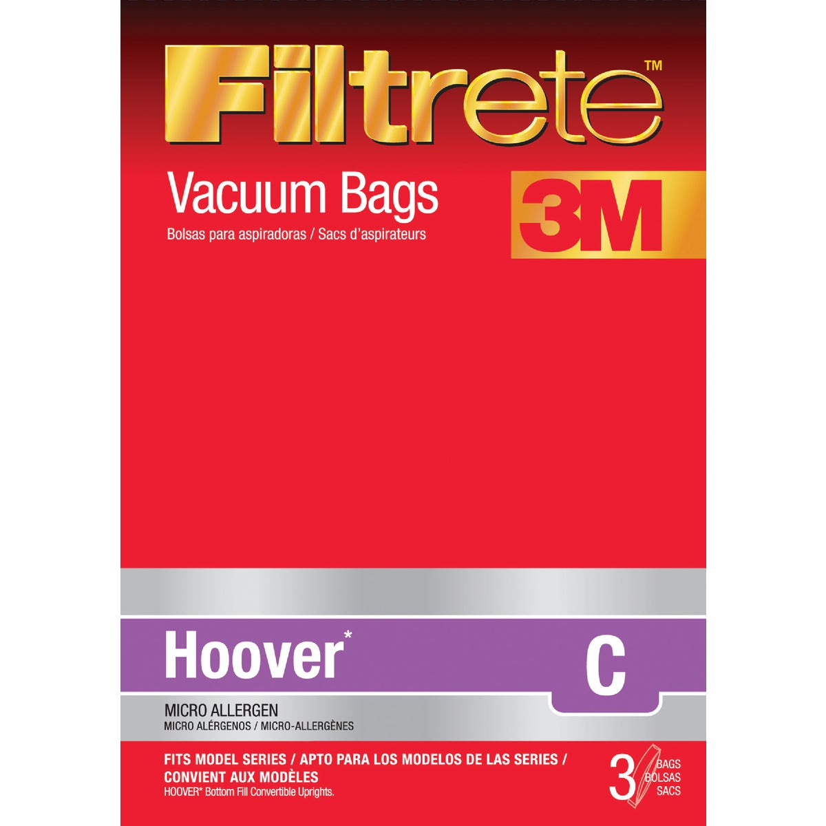 3M HOOVER C VACUUM BAG - 64723-6 by Electrolux Home Care