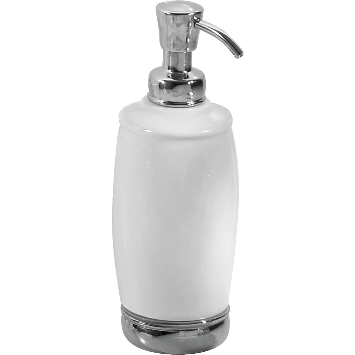 WH/CHR TALL SOAP PUMP - 75601 by Interdesign Inc