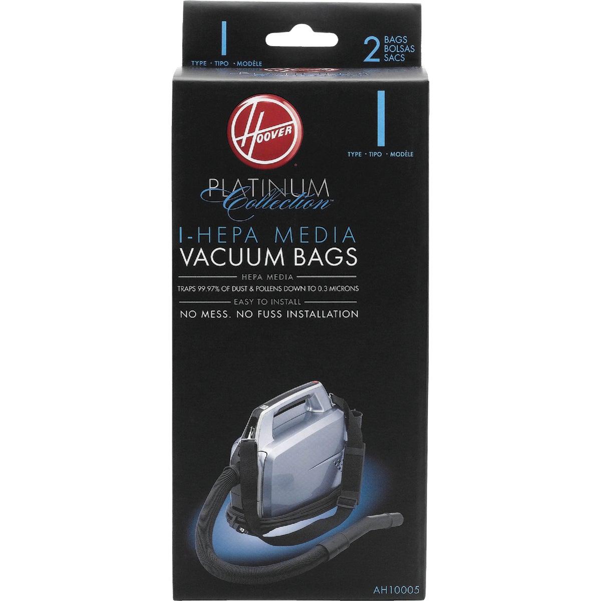 2PK I HEPA VACUUM BAG - AH10005 by Hoover Co