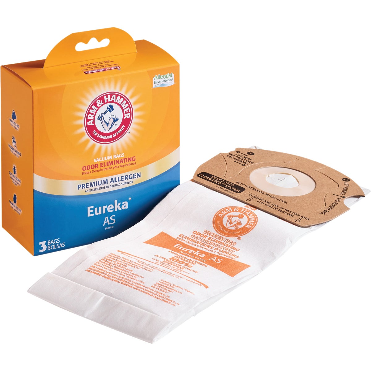 3M Filtrete Eureka Type AS Micro Allergen Vacuum Bag (3-Pack)