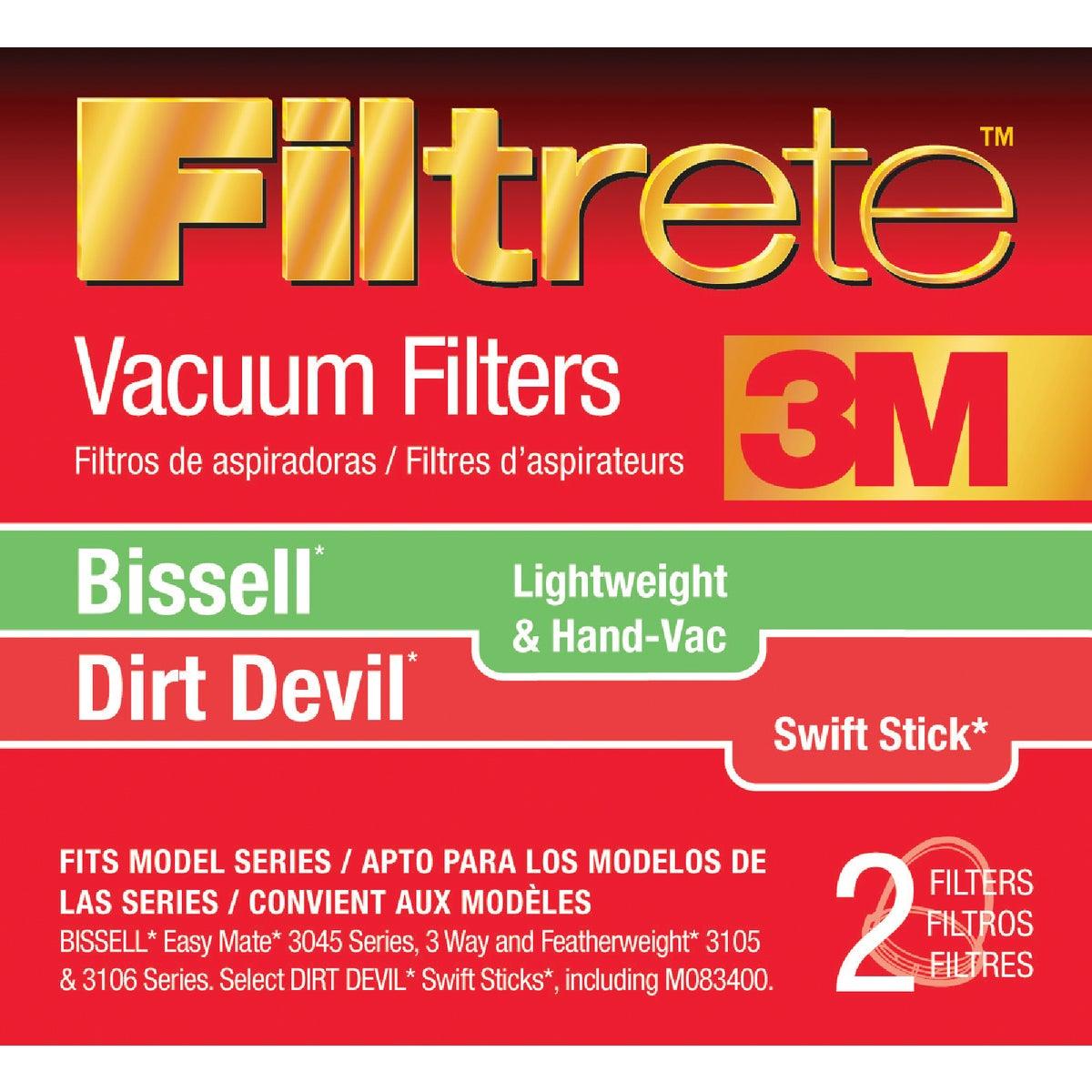 3M Filtrete Bissell Lightweight & Hand-Vac/Dirt Devil Swift Stick Vacuum Filter