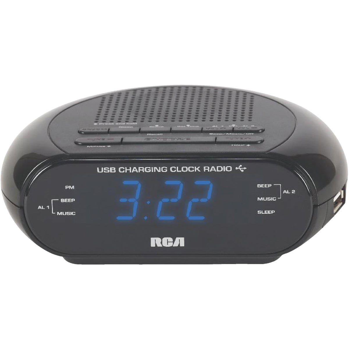 USB ALARM CLOCK RADIO - RC207R by Audiovox Accessories