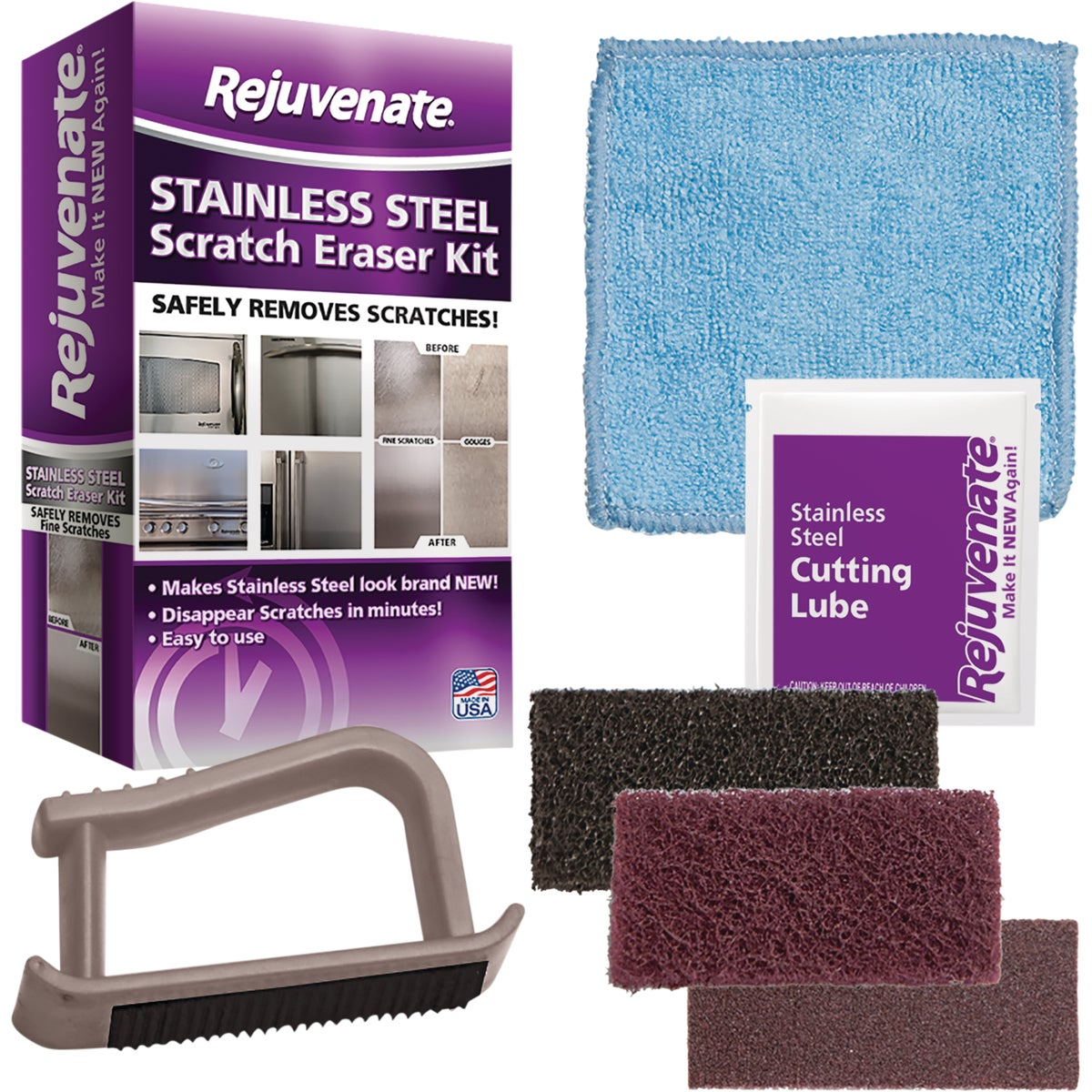 Stainless Steel Scratch Eraser Appliance Cleaner Kit, RJSSRKIT