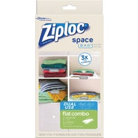 Ziploc Space Bag Vacuum Seal Dual Use Flat Combo Storage Bag, 70423