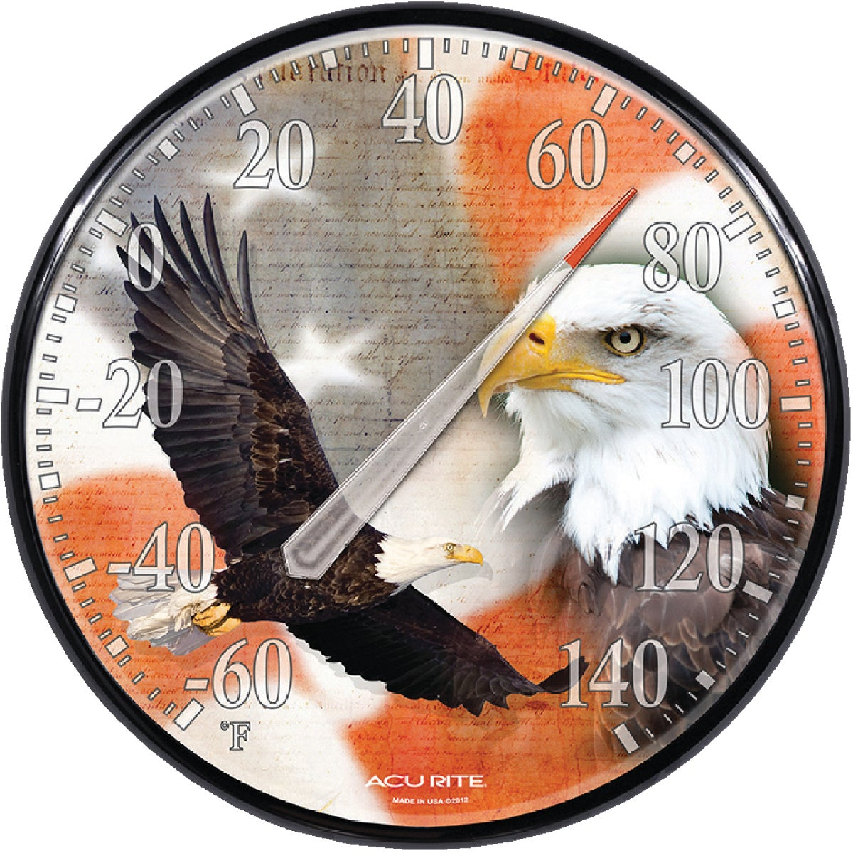 EAGLE/FLAG THERMOMETER - 01738A1 by Chaney Instrument Co