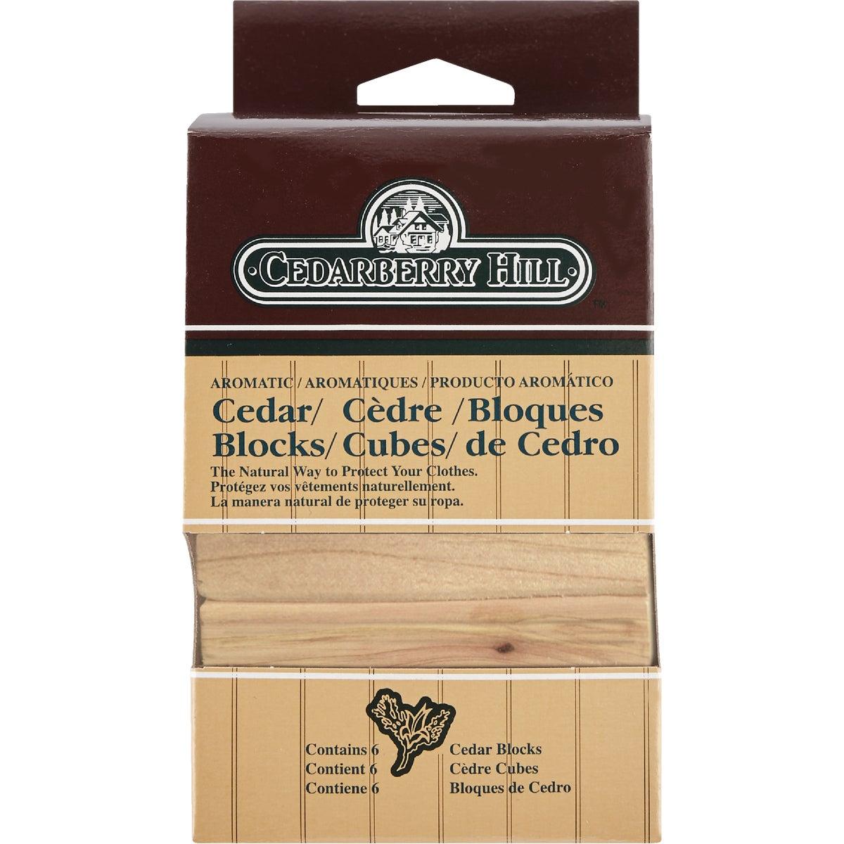 Cedarberry Hill Aromatic Cedar 3 In. W. x 2.125 In. H. x .69 In. D. Cedar Blocks (6-Pack)