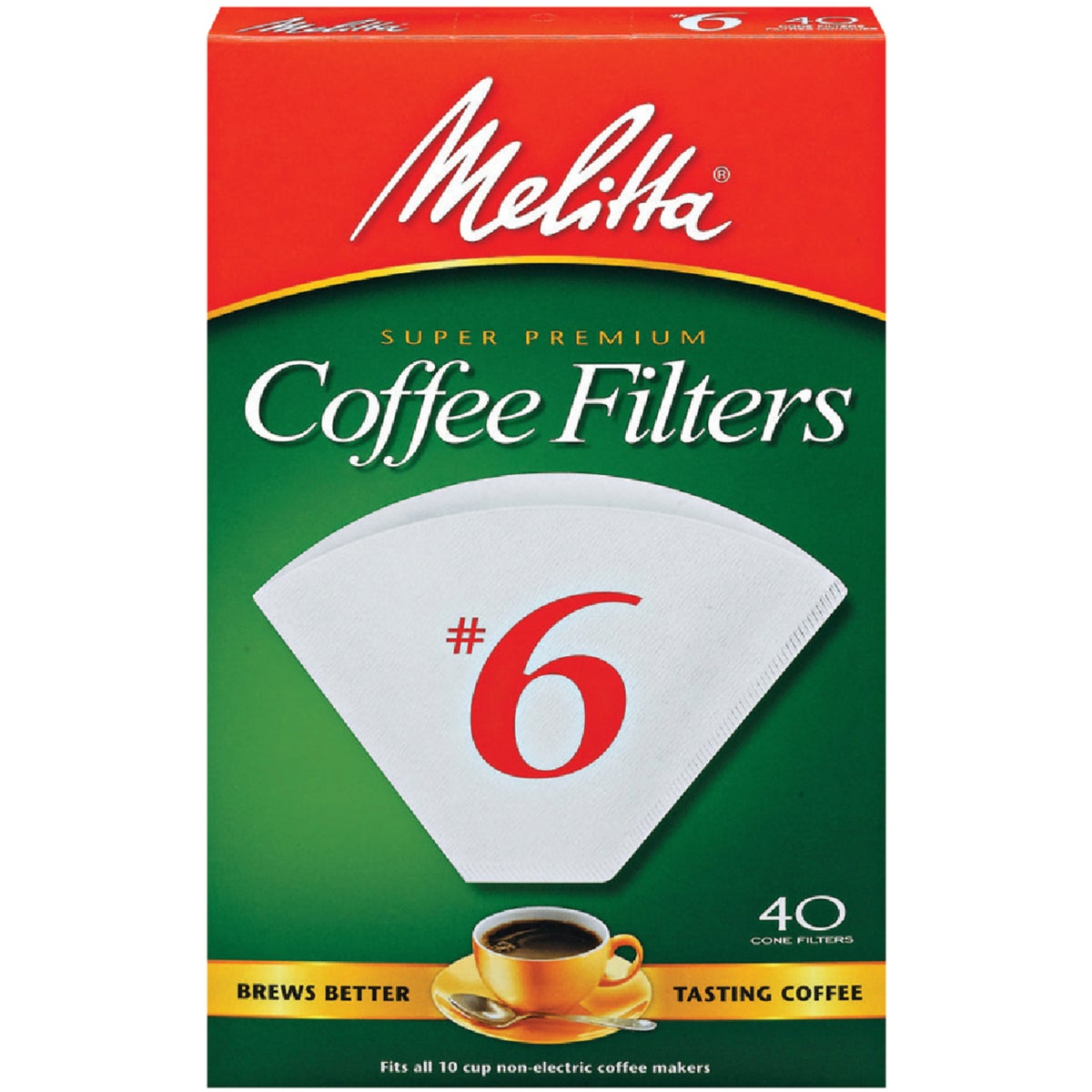 #6 CONE COFFEE FILTER - 626402 by Melitta U S A Inc