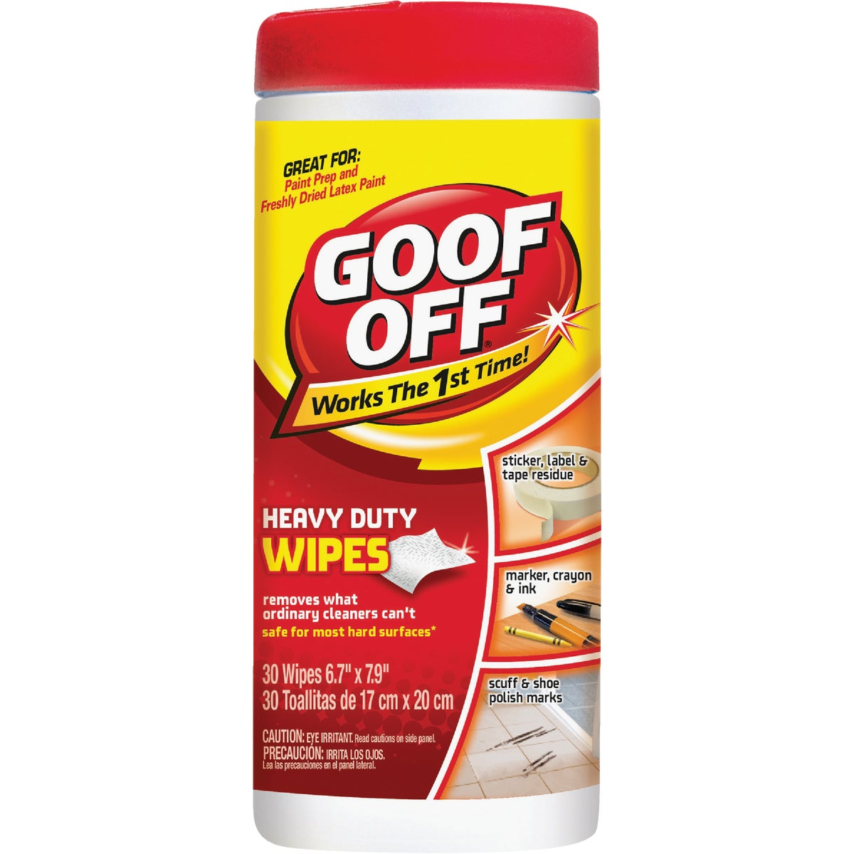 Goof Off Heavy-Duty Multi-Surface Wipes, FG685