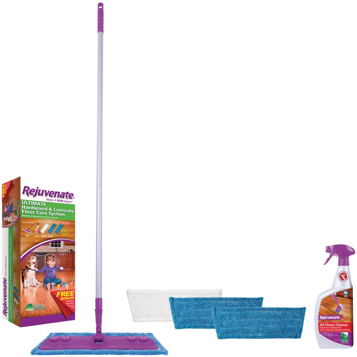 Rejuvenate Hardwood & Laminate Floor Care System, RJMOPKIT
