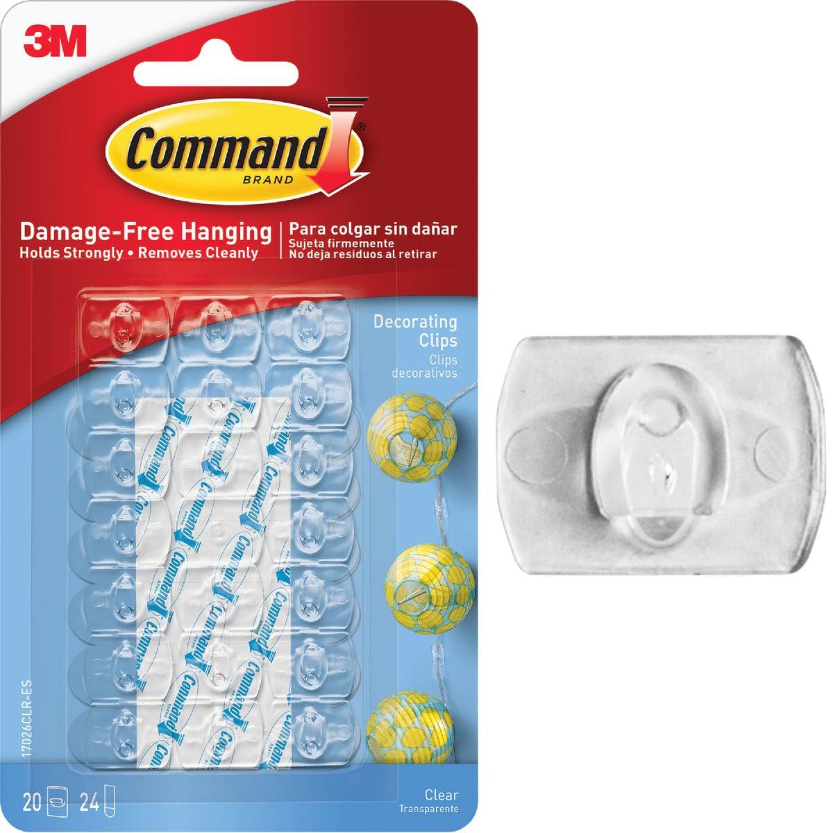COMMAND CLEAR DECOR CLIP - 17026CLR-20PK by 3m Co