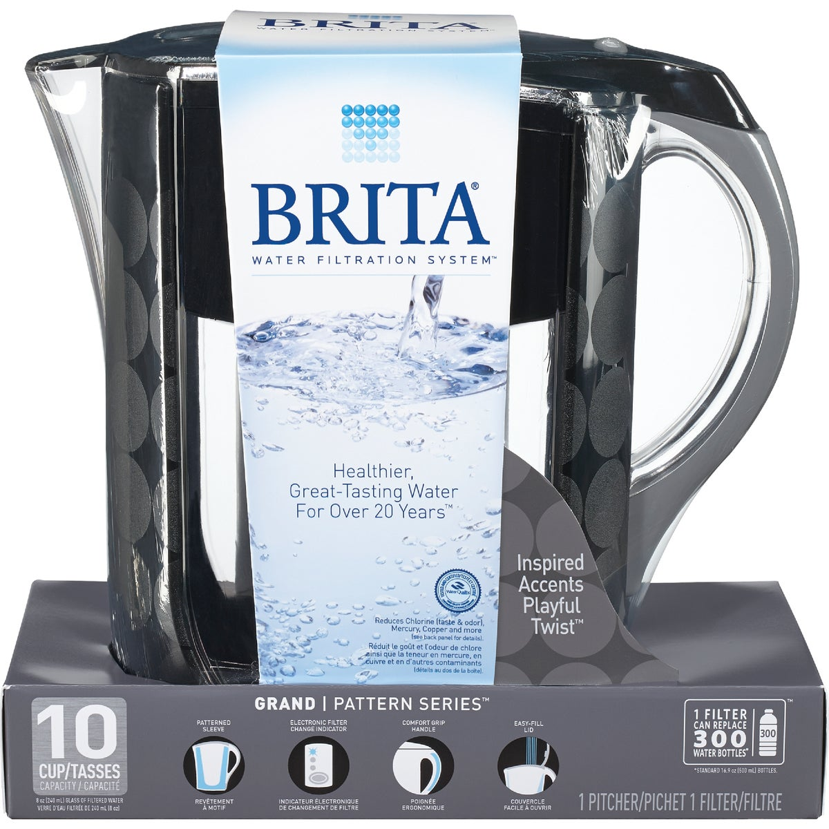 BRITA GRAND BLK PITCHER