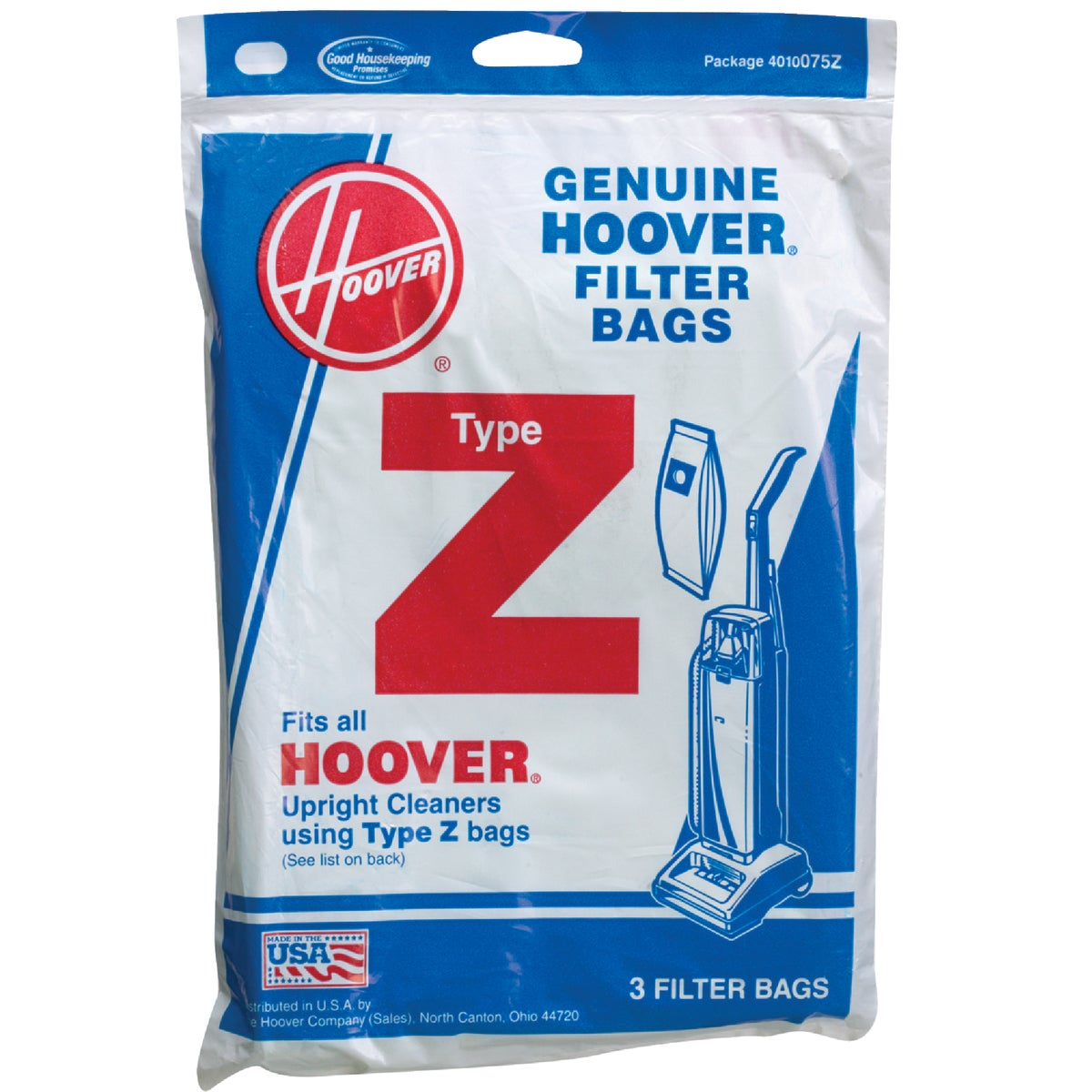 VACUUM CLEANER BAG - 4010075Z by Hoover Co