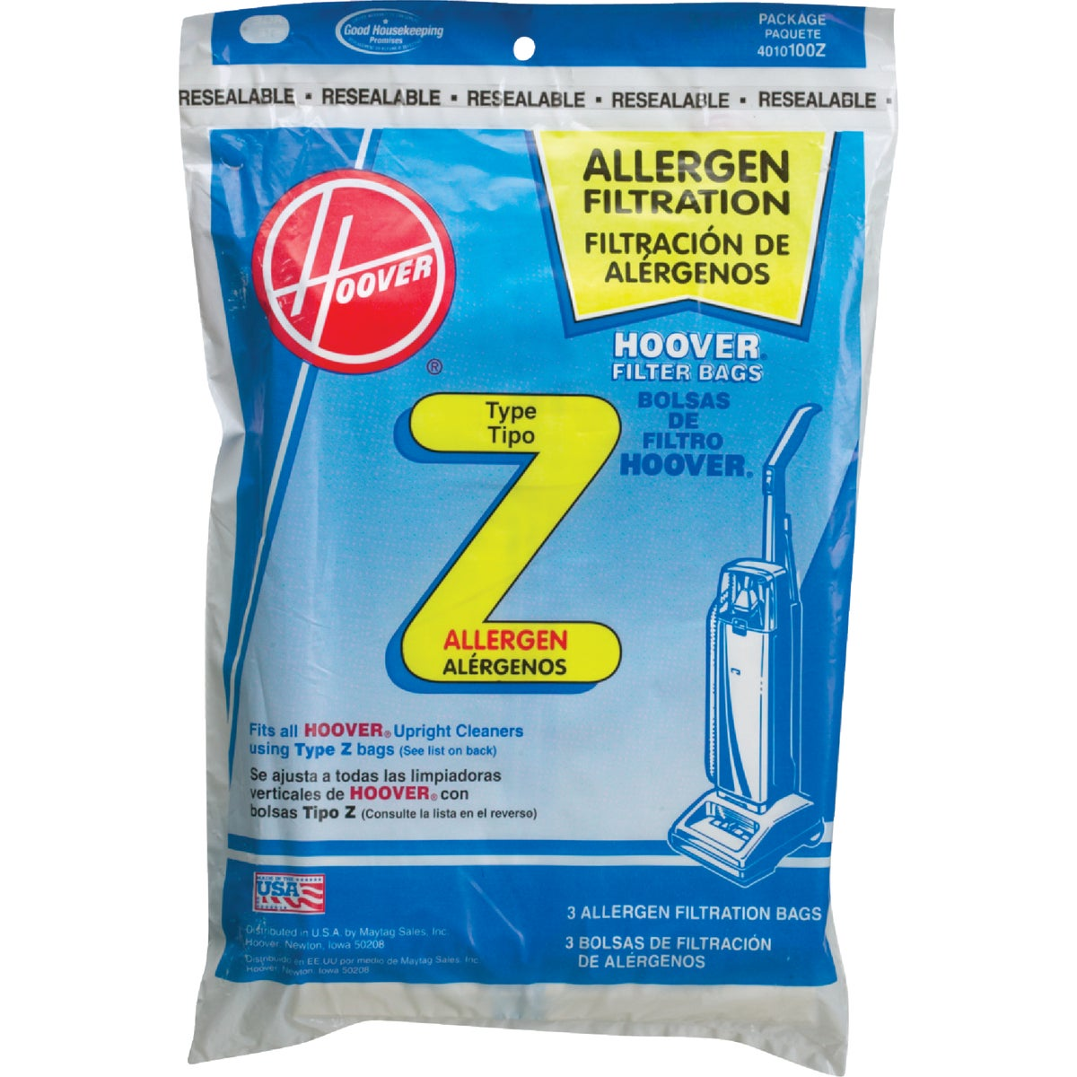 FILTRATION VACUUM BAG - 4010100Z by Hoover Co