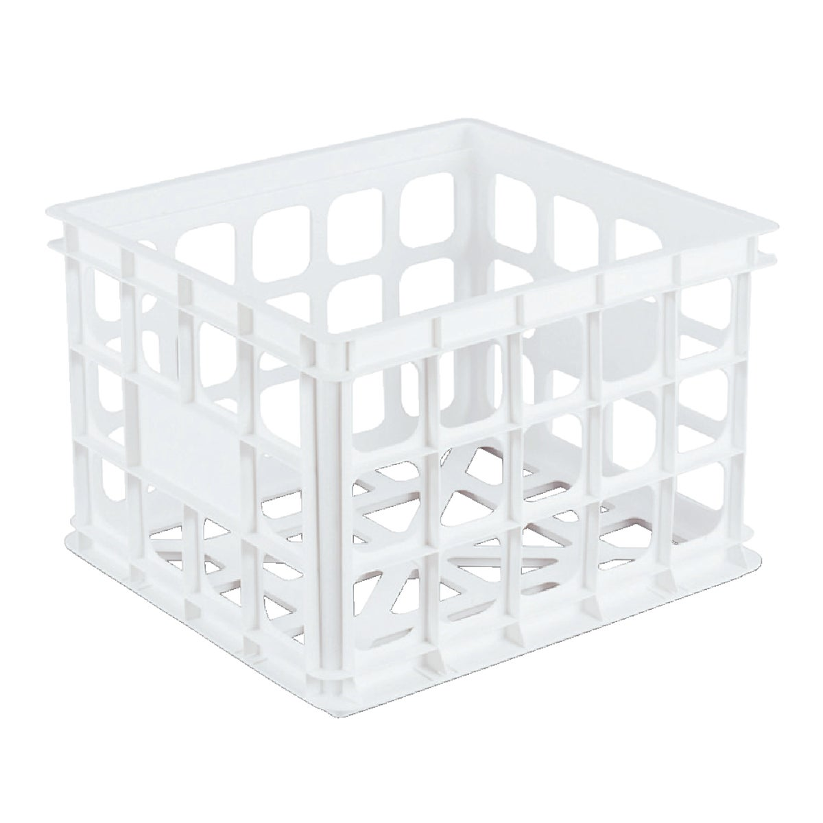 WHITE STORAGE CRATE - 16928006 by Sterilite Corp