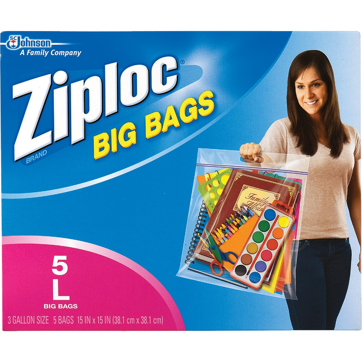 LARGE ZIPLOC BIG BAGS - 65676 by Sc Johnson