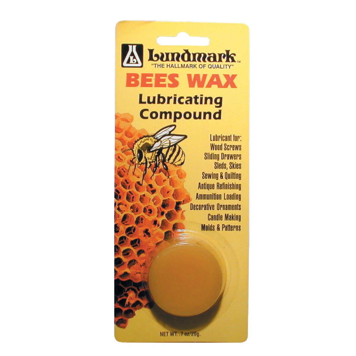 .7OZ BEESWAX - 9105W.7 by Lundmark Wax Co