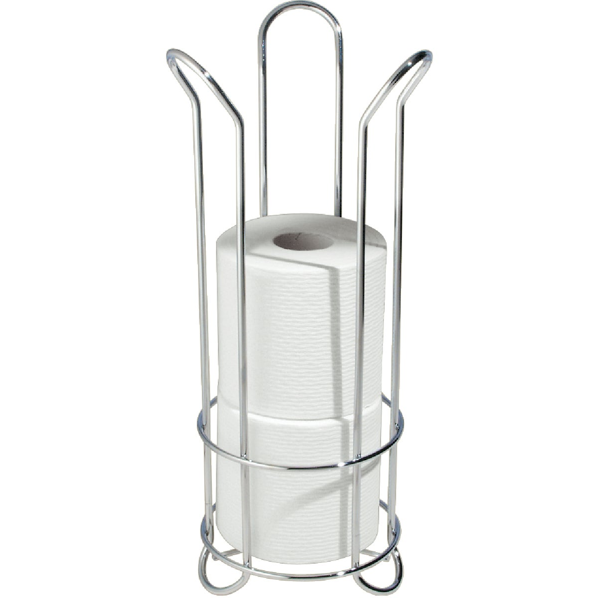 InterDesign Classico Tulip Free Standing Toilet Paper Roll Holder for Bathroo...
