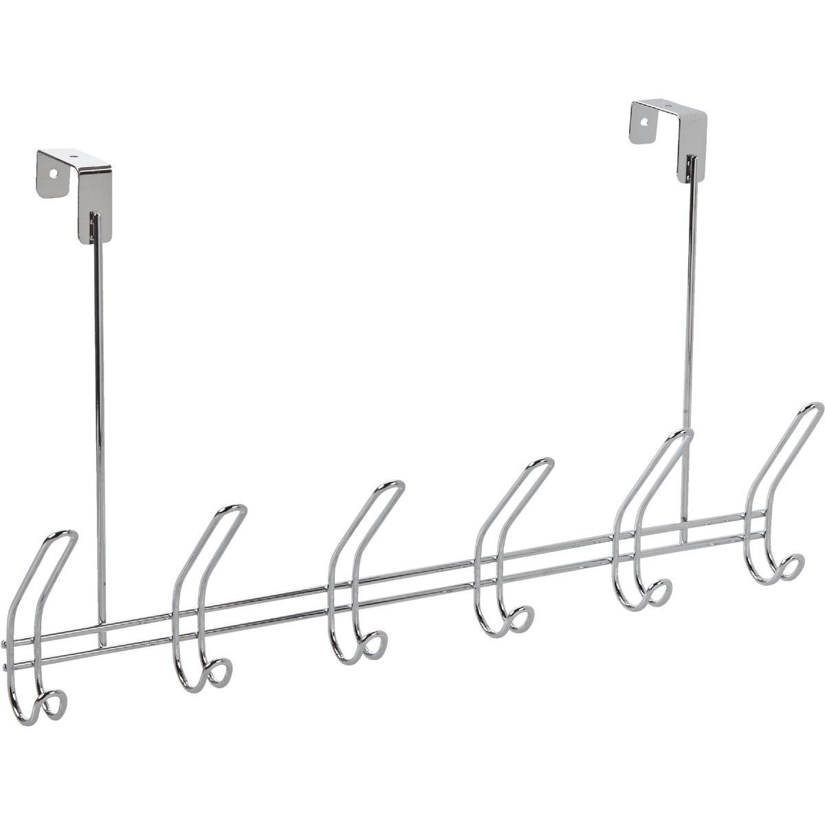 CHROME OVER DOOR RACK - 44002 by Interdesign Inc