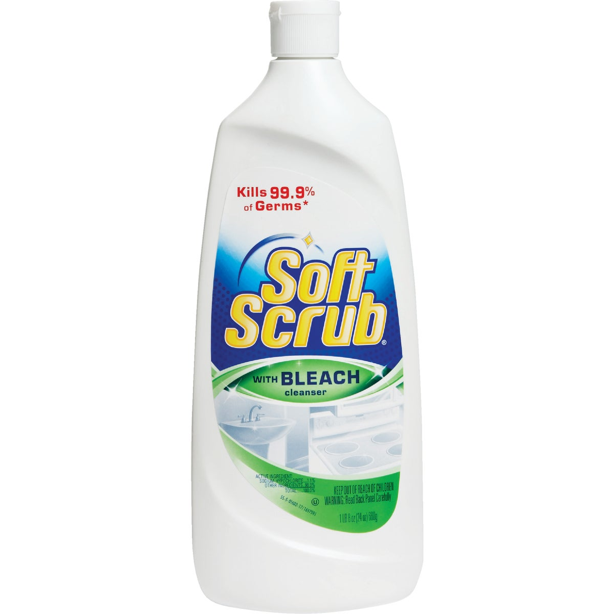 24OZ SOFT SCRUB W/BLEACH - 01602 by Dial Corp