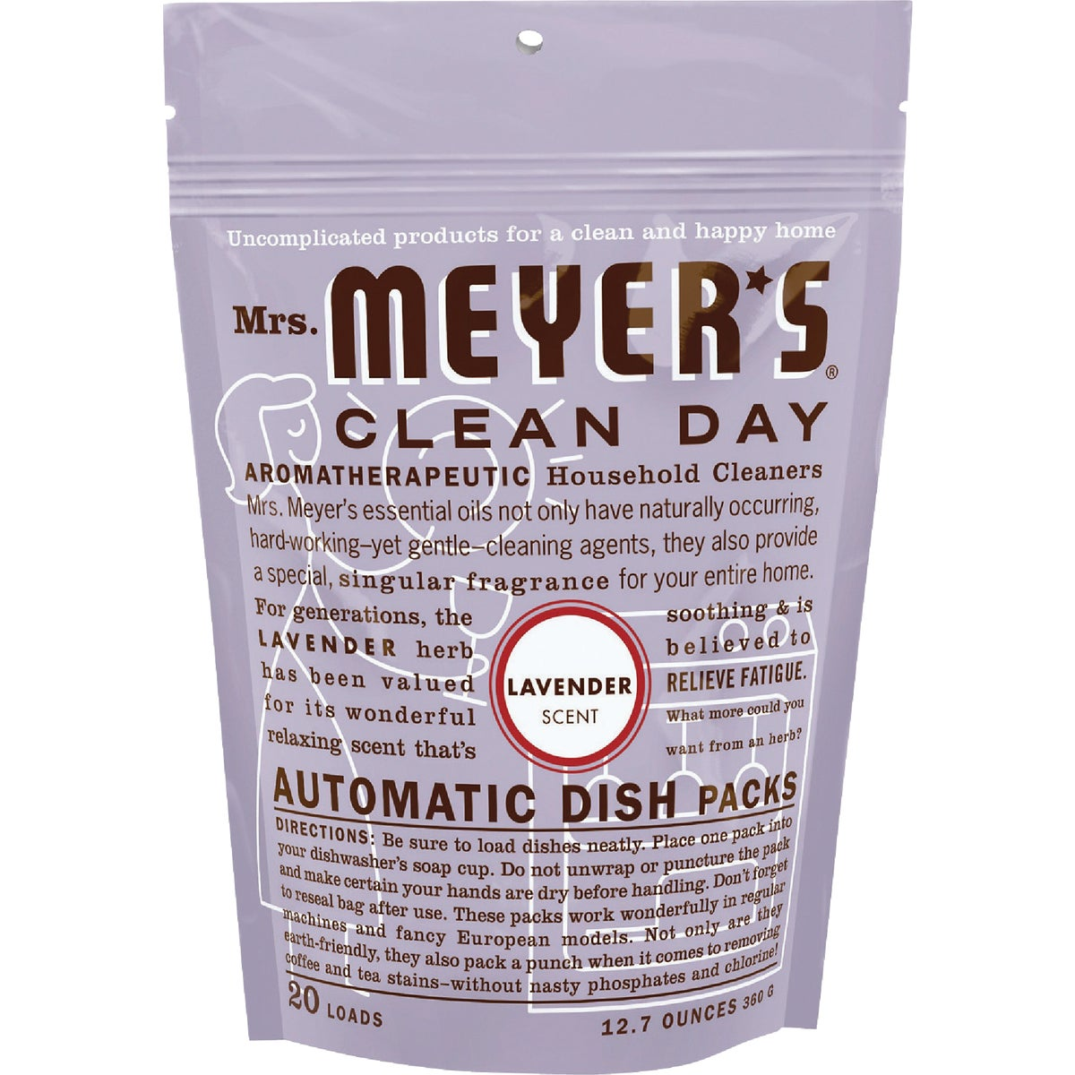 LAVNDR DISHWASHING PACKS - 14164 by Mrs Meyers Clean Day
