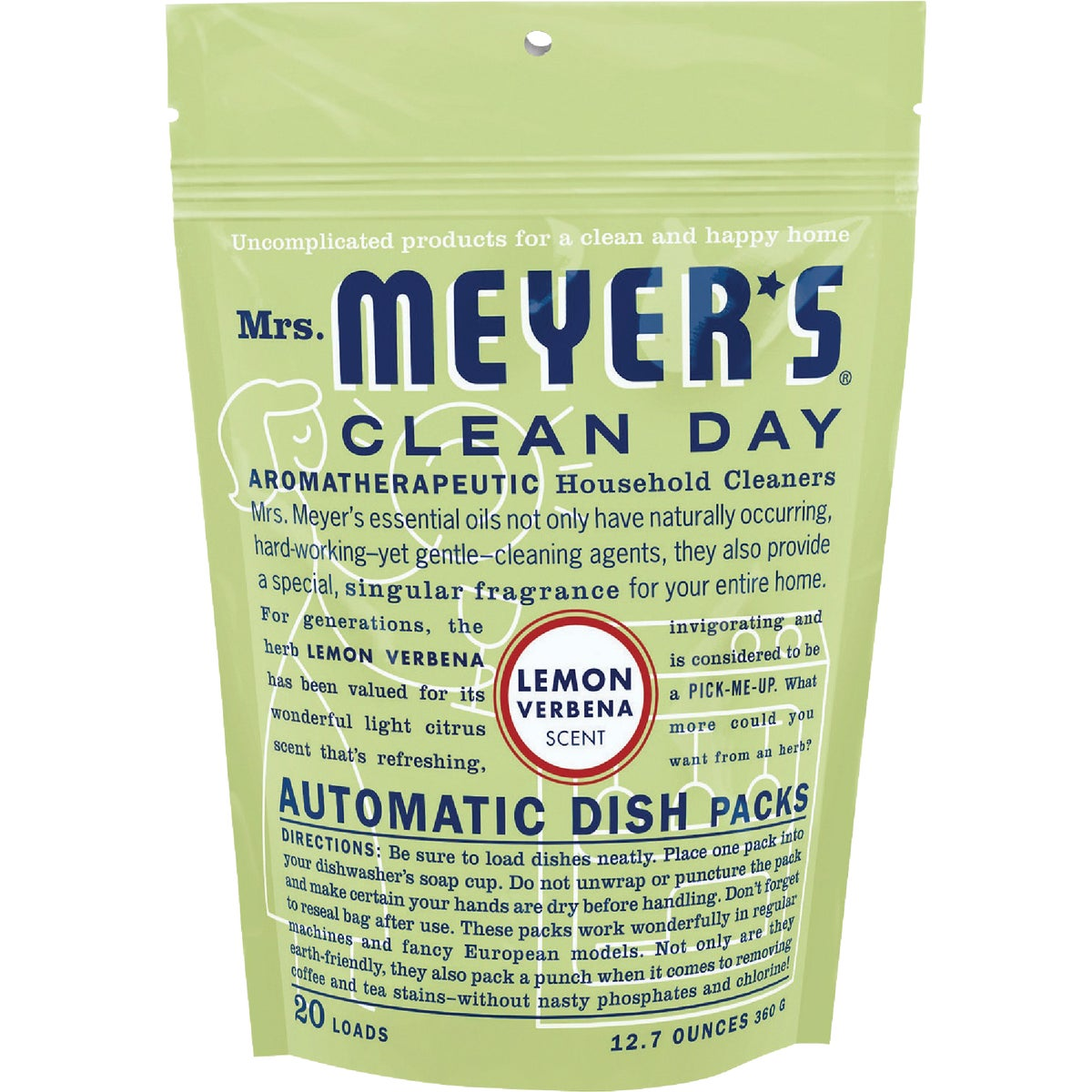 LEMON DISHWASHING PACKS - 14264 by Mrs Meyers Clean Day