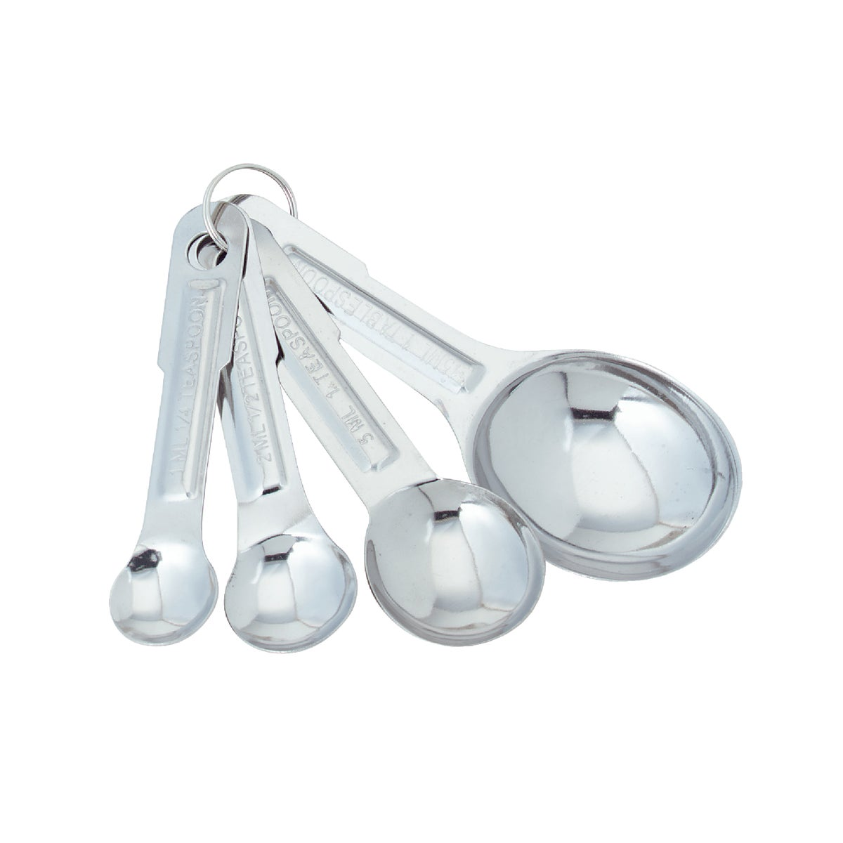 4PC SS MEASURING SPOONS