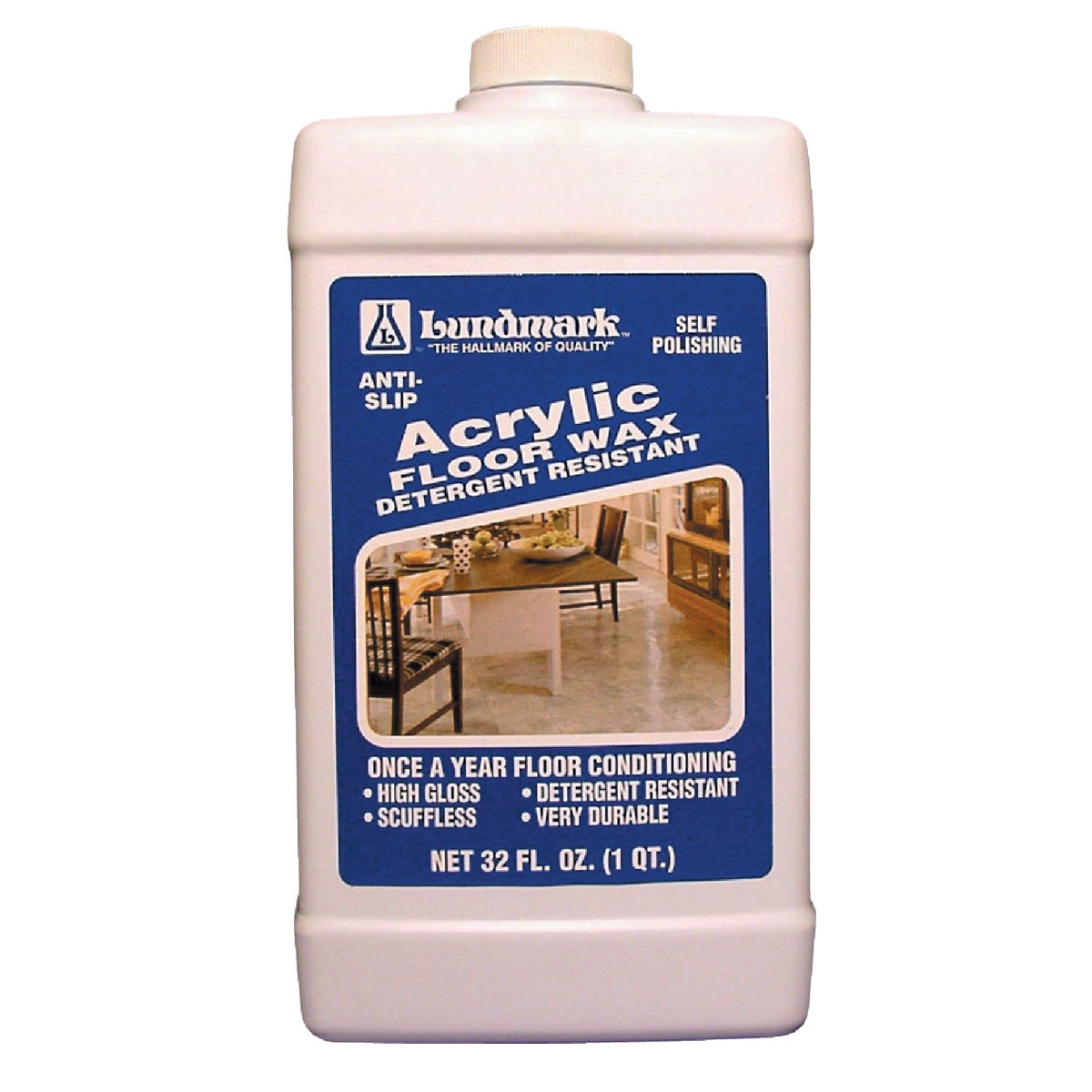 32OZ ACRYLIC FLOOR WAX - 3203F32-6 by Lundmark Wax Co