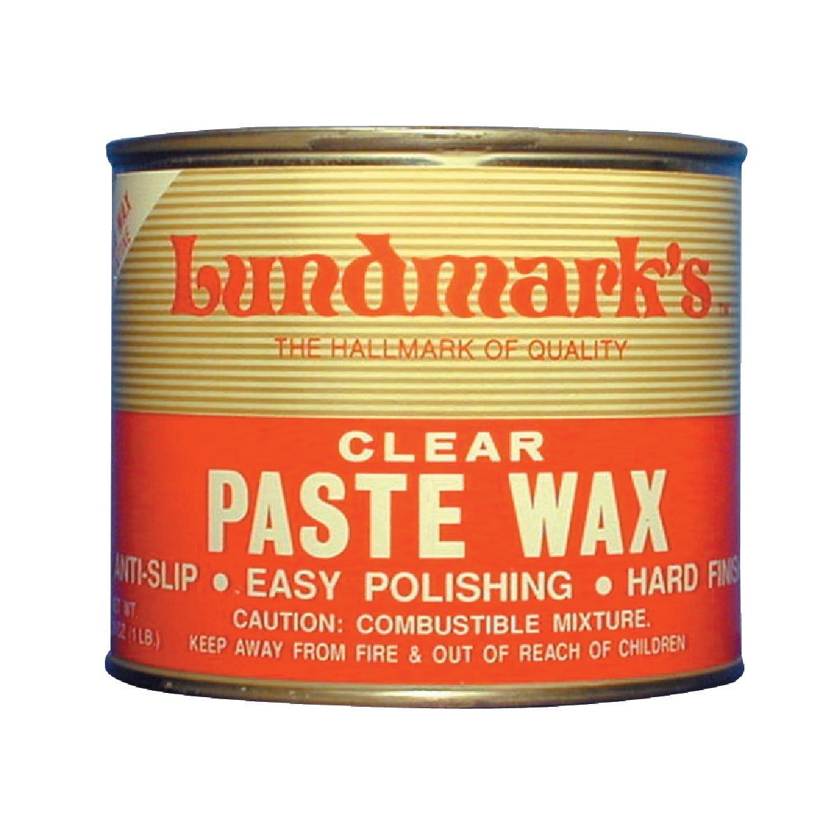1LB CLEAR PASTE WAX - 3206P001-6 by Lundmark Wax Co