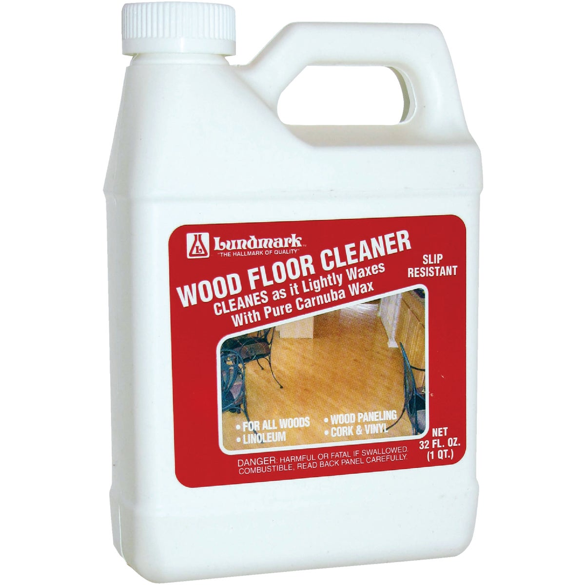 32OZ WOOD FLOOR CLEANER - 3207F32-6 by Lundmark Wax Co