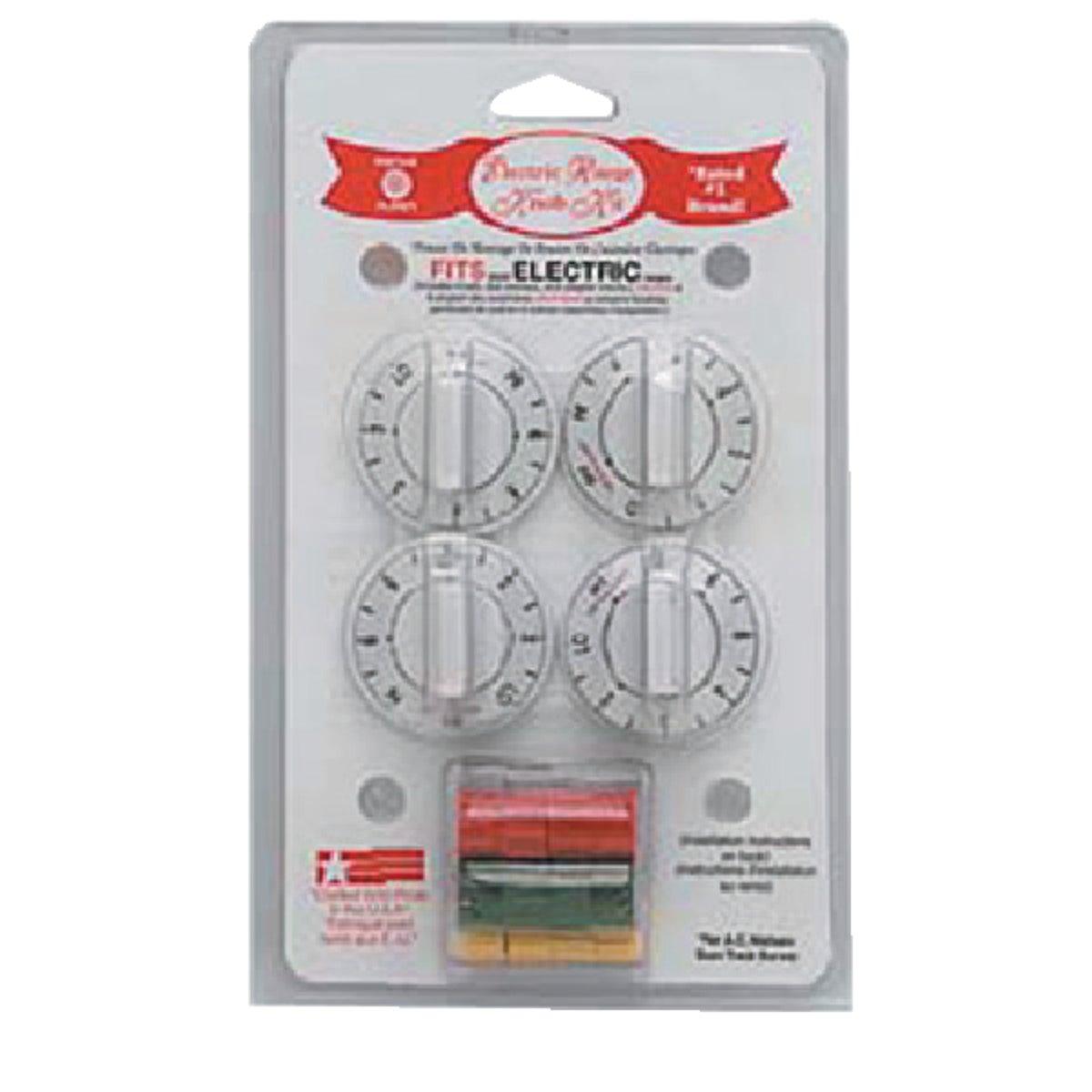 Range Kleen WHITE ELECTRIC KNOB KIT 8134