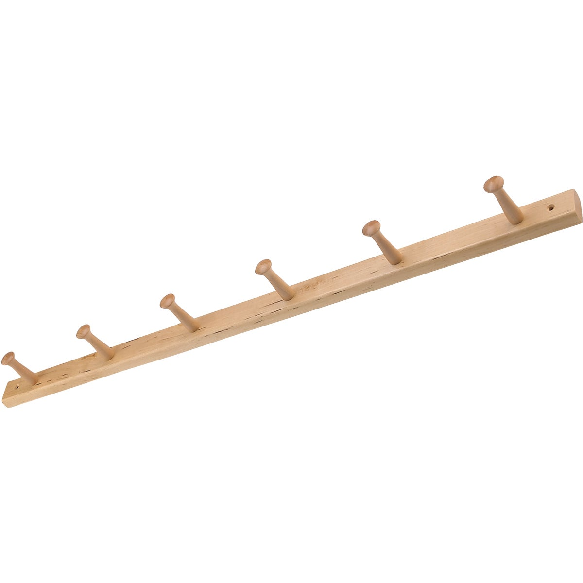 6 PEG WOOD RACK - 91528 by Interdesign Inc