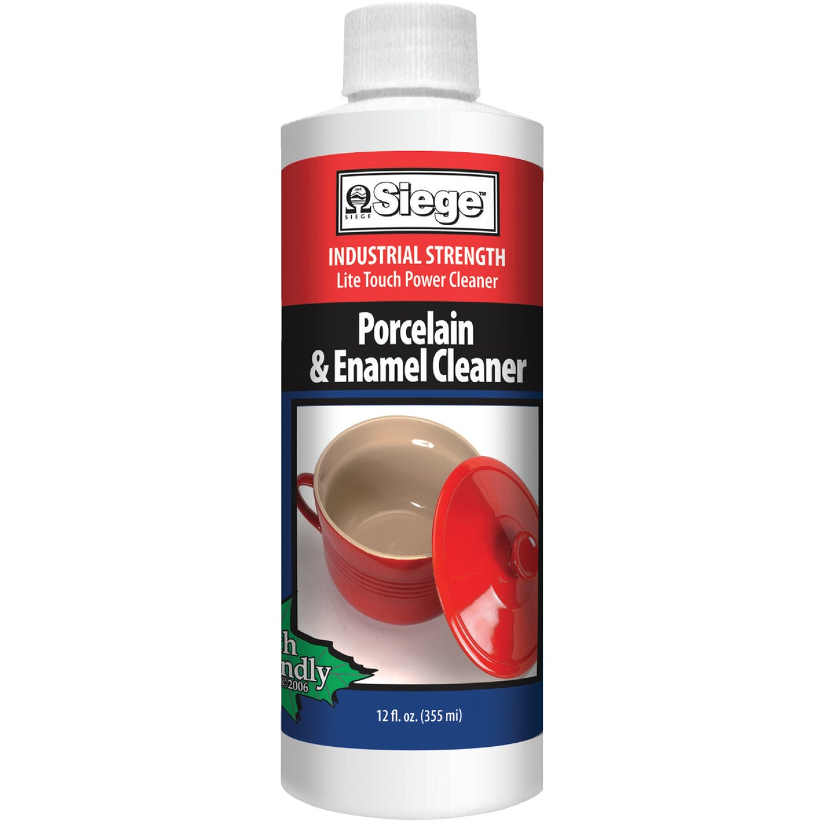 12OZ PRCLN/ENML CLEANER - 766L by Siege Chemical Co