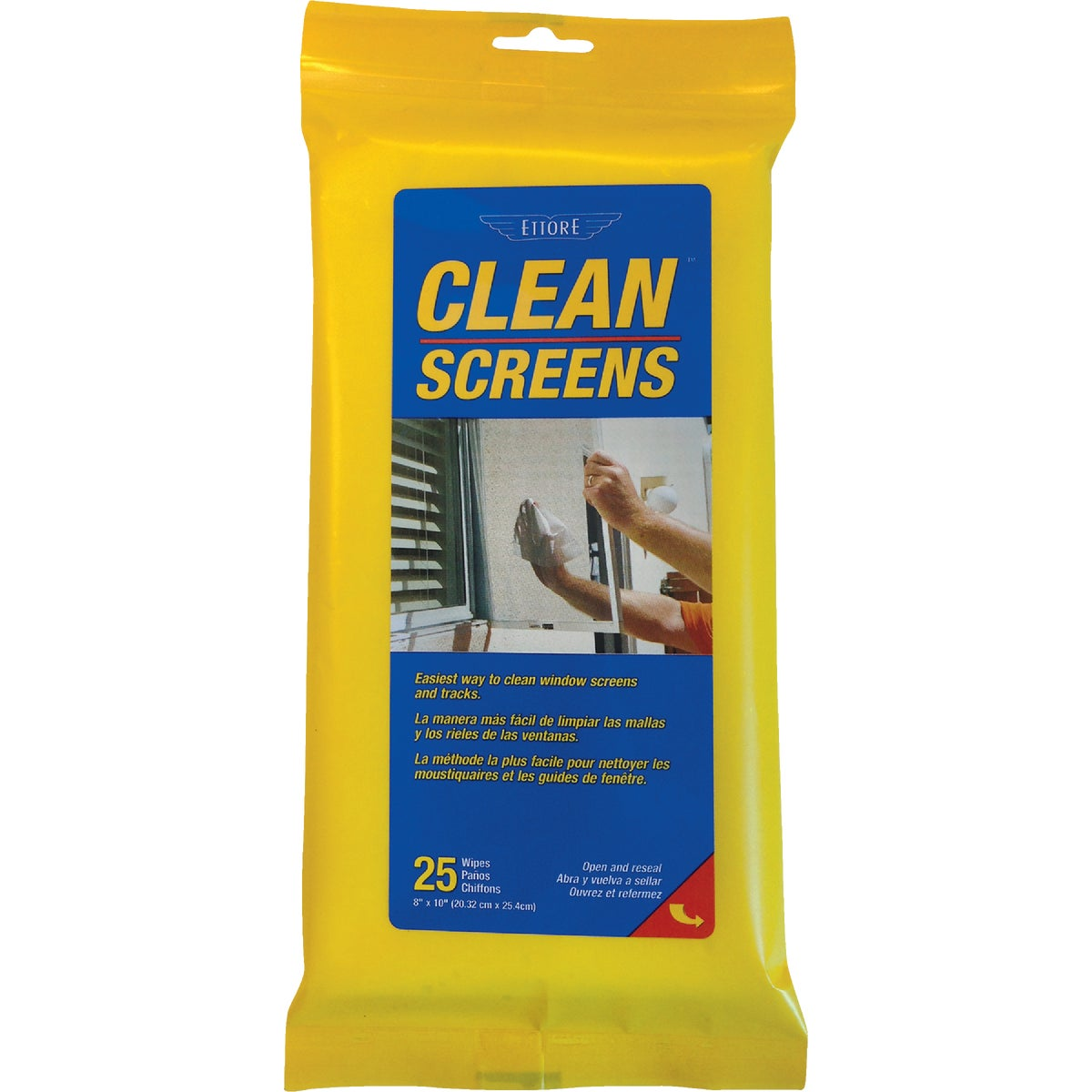 WNDOW SCREEN CLEAN WIPES - 30155 by Ettore Products Co
