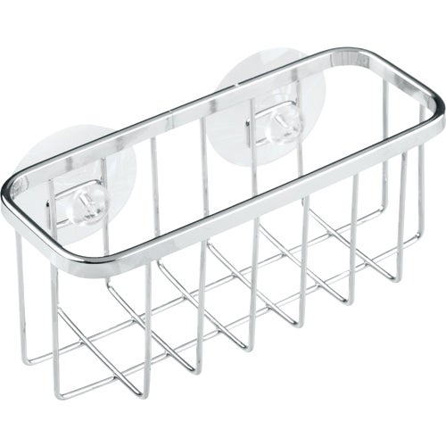 InterDesign Gia Kitchen Sink Suction Holder for Sponges, Scrubbers, Soap - St...