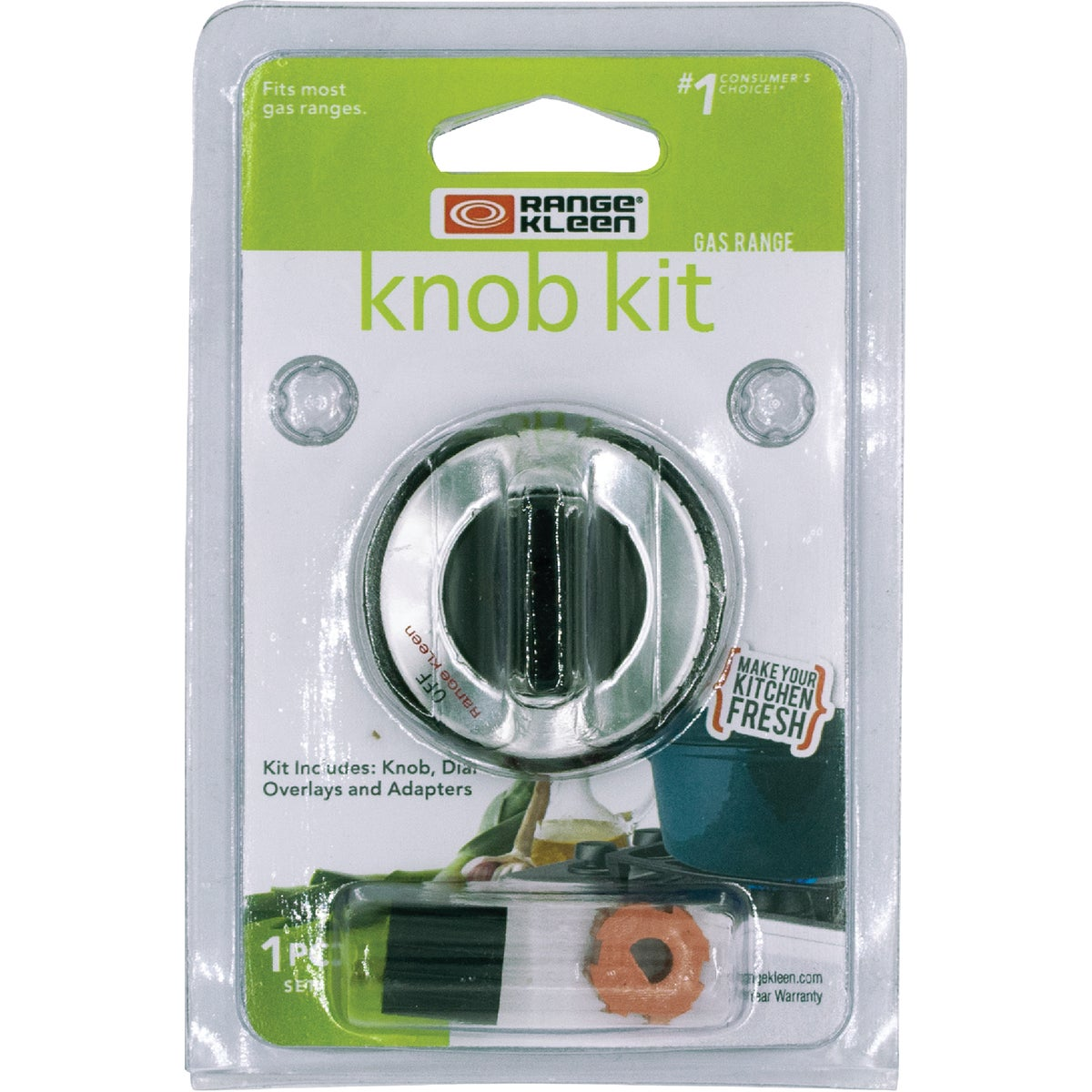 BLACK GAS KNOB KIT - 8211 by Range Kleen Mfg Inc