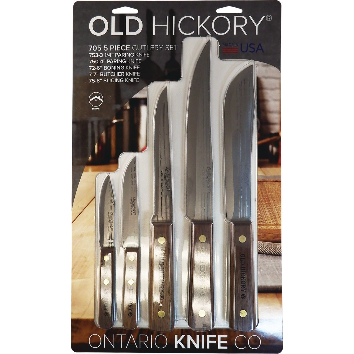 5 PIECE KNIFE SET - 7180 by Ontario Knife Co