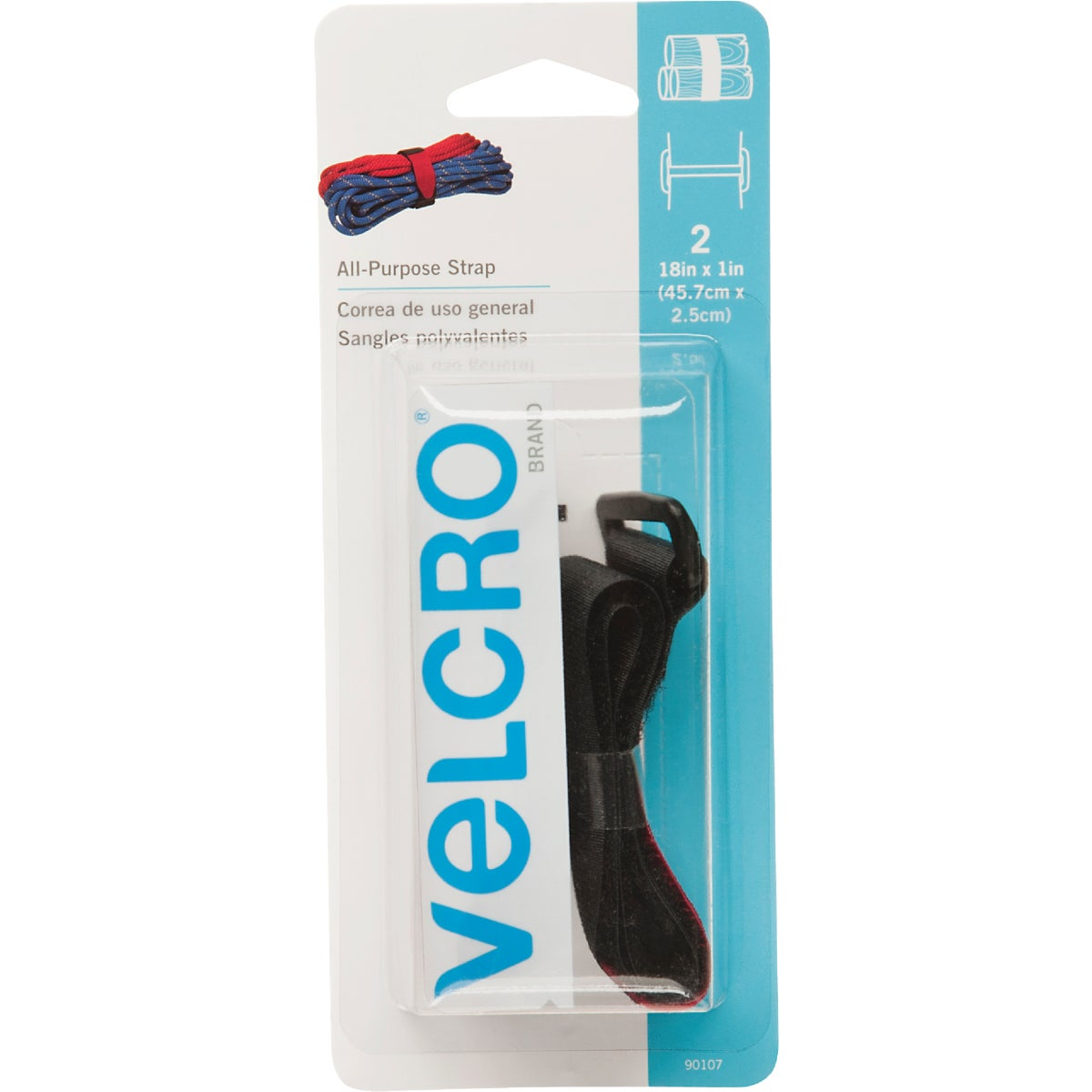 STRAP ADHESIVE FASTENER - 90107 by Velcro Usa