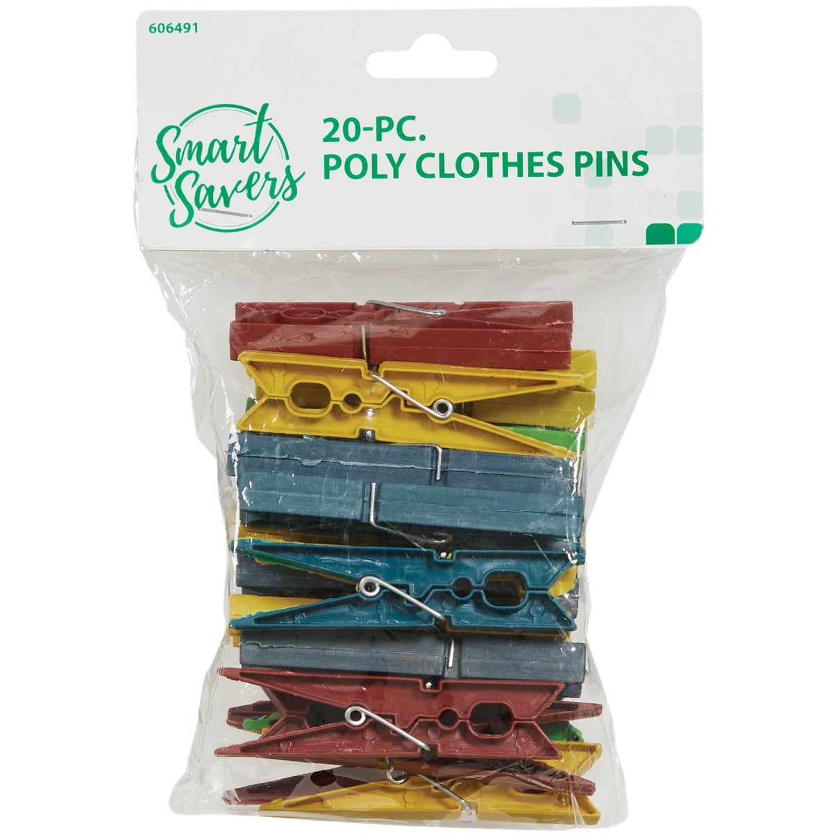20PC POLY CLOTHES PINS