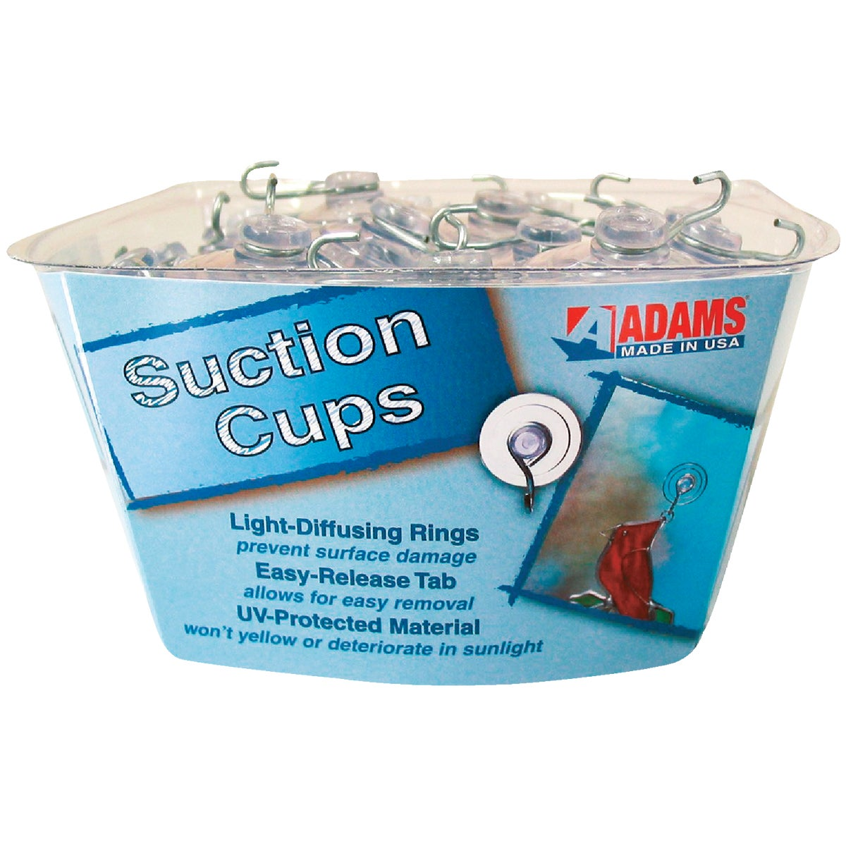 MED SUCTION CUP W/HOOK - 6500-74-3848 by Adams Mfg