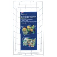 Panacea Products WHITE STORAGE BASKET 604