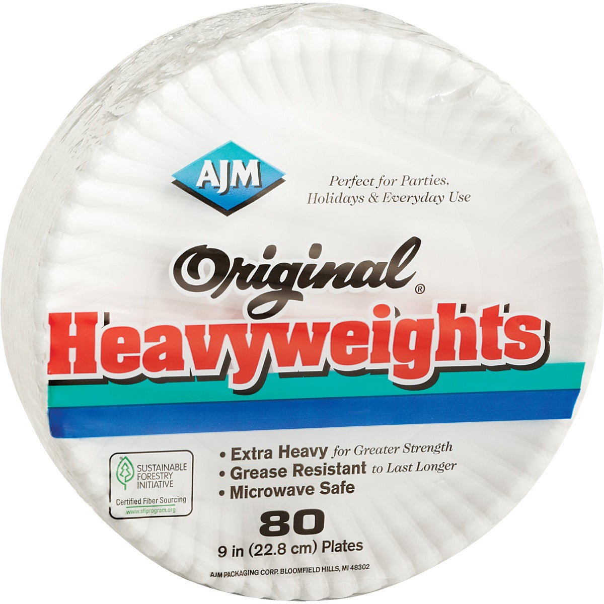 "80 COUNT 9"" PAPER PLATE - OH9AJFWH by A J M Packaging Corp"