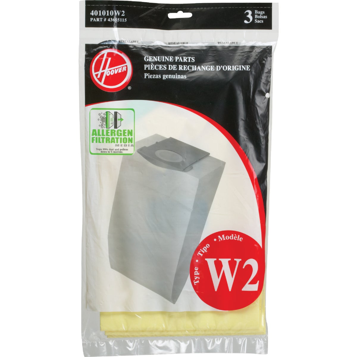 ALLERGEN WT2 BAG - 401010W2 by Hoover Co